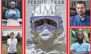 Ebola medical workers were named Time's person of the year for 2014.