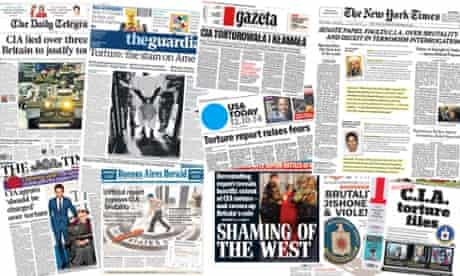Newspaper coverage of the CIA torture report.