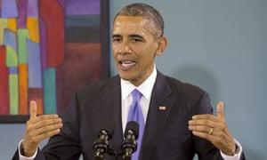 In this Dec. 9, 2014 file photo, President Barack Obama speaks in Nashville, Tenn.