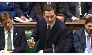 Chancellor George Osborne delivers his autumn statement to parliament.