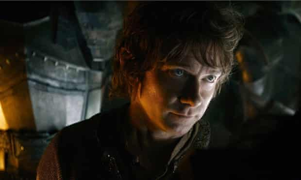 Martin Freeman as Bilbo in the last part of Peter Jackson's Hobbit adaptation.