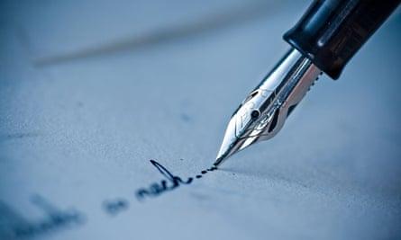 fountain pen handwriting