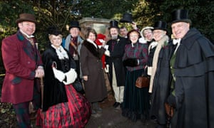 The Dickens Fellowship with Marion Dickens, the great-great granddaughter of Charles Dickens.