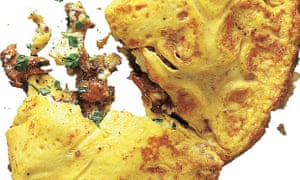 Yotam Ottolenghi's wild mushroom, urfa chilli and feta omelette