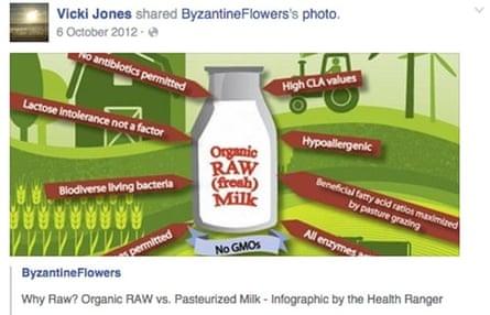 raw milk facebook post