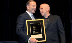 Tony Abbott and Richard Flanagan