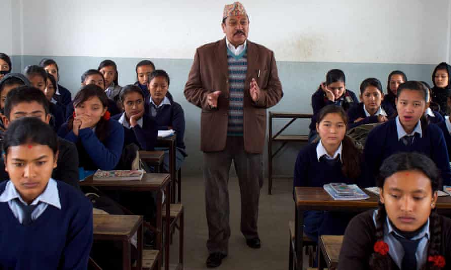 Prem Kumar Khadka, 58, is one of the finalists of Integrity Idol; a competition to find the most honest civil servant in Nepal. He has been a teacher at Araniko Secondary School on the outskirts of Kathmandu for almost 36 years, and the principal for the past 12 years.