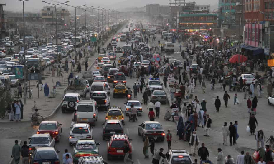 Congestion in Kabul.