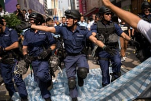 26 November Police clear out a pro-democracy camp in Mong Kok, arresting Joshua Wong and another student leader and reopening a main road blocked for almost two months