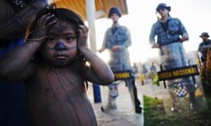 A Munduruku Indian child