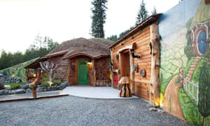 """In Northwest Montana there's an entire """"Hobbit village"""", inspired by the shire. The guest cottage is big; boasting a master bedroom and a guest room as well as a wood burning stove and a library."""