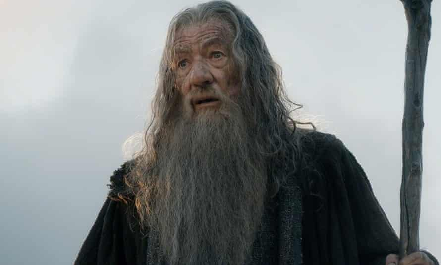 Sir Ian McKellen, as Gandalf the Grey in The Hobbit: the Battle of the Five Armies