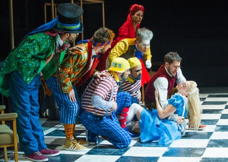 A scene from The Mad Hatter's Tea Party by ZooNation Dance Company @ Linbury Studio, Royal Opera House.