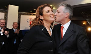Peter Robinson with his wife Iris