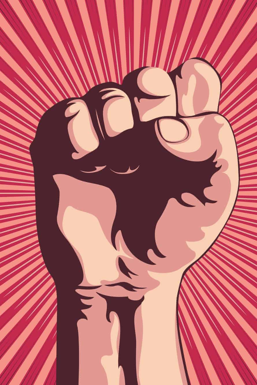 clenched fist illustration for people power