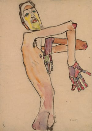 Nude with Crossed Arms, 1910, by Egon Schiele