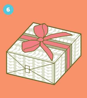 How to wrap a present: 6
