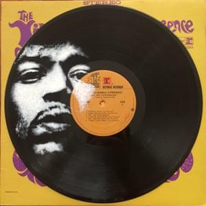 Daniel Edlen record paintings Jimi Hendrix vinyl art