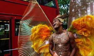 A Gay Pride London reveller.