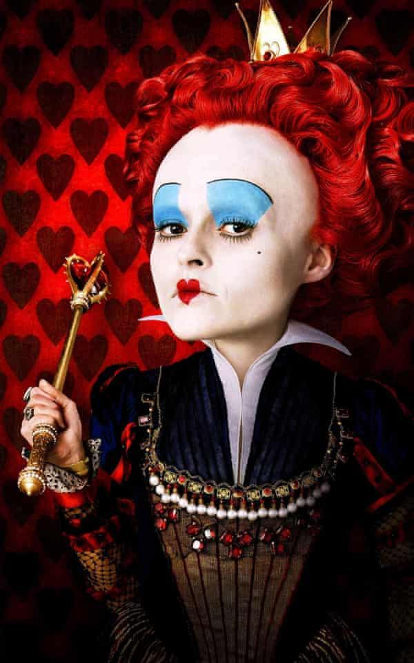 Helena Bonham Carter as the Red Queen in Tim Burton's Alice in Wonderland.