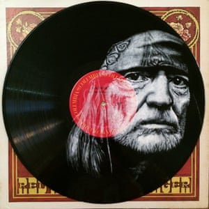 Daniel Edlen Record paintings Willie Nelson vinyl art