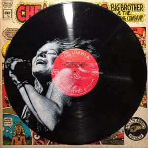 Daniel Edlen record paintings vinyl art Janis Joplin