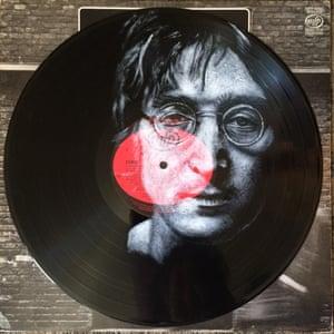 John Lennon Daniel Edlen record paintings vinyl art