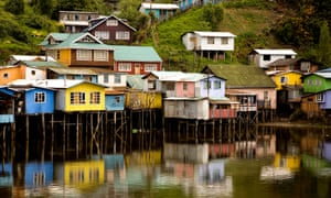 Stilt houses in southern Chile.