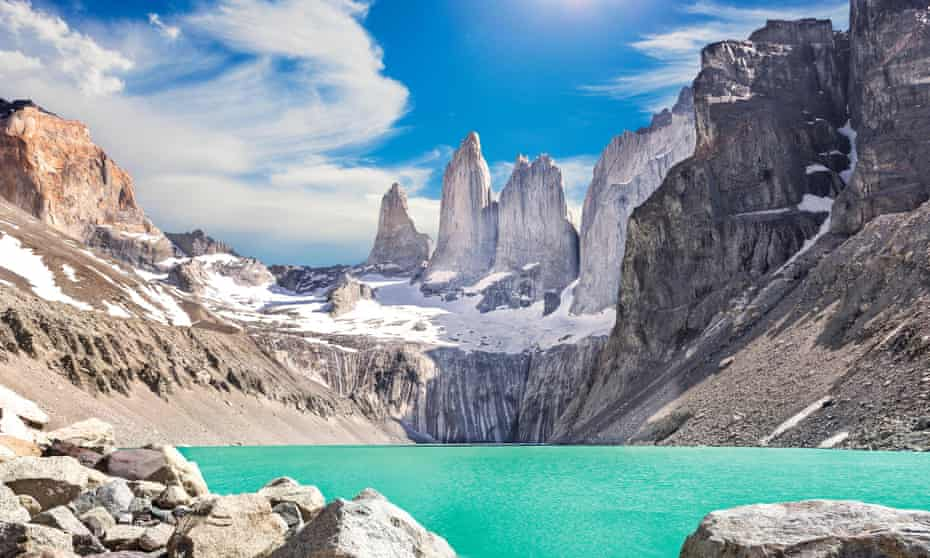 The Torres del Paine mountains in southern Chile