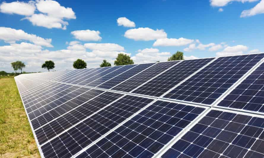 Solar panels at a solar farm in Germany.