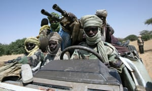 Rebel fighters of the Sudanese Justice and Equality Movement in north-west Darfur. Sudan