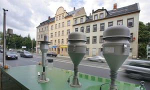 An air quality measurement station in Chemnitz, Saxony, Germany.