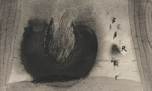 Fire (3), undated. Watercolour. Courtesy of the artist and Kayne Griffin Corcoran, Los Angeles.