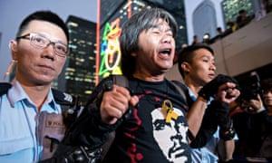 Hong Kong police arrest pro-democracy activist and legislator Leung Kwok-Hung, known as 'Long Hair'