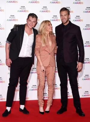 John Newman, Ellie Goulding and Calvin Harris BBC Music Awards, Earls Court, London.