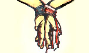 torture hands illustration