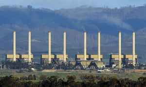Hazelwood power station billows smoke from its exhaust stacks in the Latrobe Valley, 150 kms east of Melbourne.