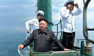 Kim Jong-Un, who is mocked mercilessly in The Interview, onboard a submarine.