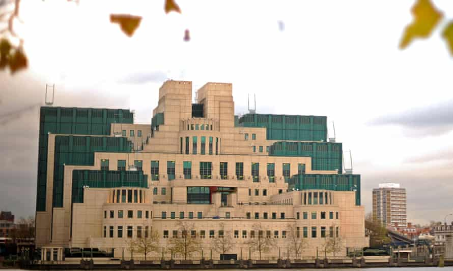 The headquarters of MI6 in London.