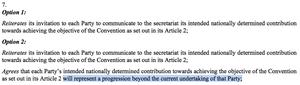 UN draft text at Lima