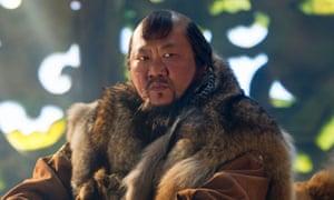 Benedict Wong as Kublai Khan in Marco Polo.