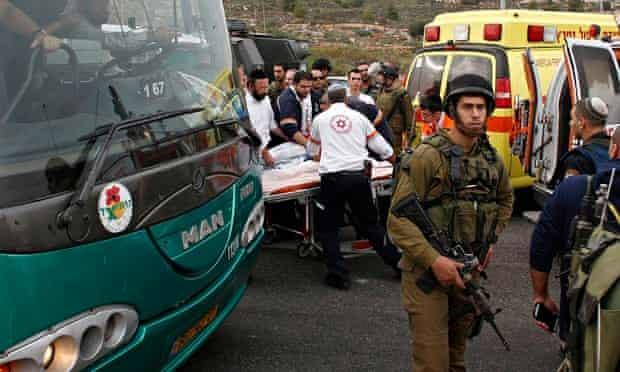 West Bank acid attack