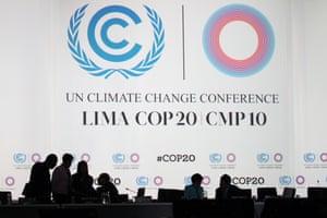 Lima COP20 shadow of Figueres Peru, 8 December 2014