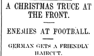 Christmas truce at the front, Manchester Guardian, 31 December 1914