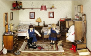 Doll's house decorated in the style of the 40s by Roma Hopkinson, 1980s