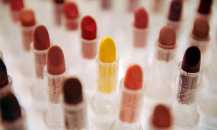 lipsticks on display