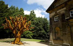 Iron Tree, 2013, by Ai Weiwei, in Yorkshire Sculpture Park.