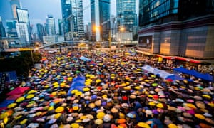 The Hong Kong protests at their height in October: their impact will be felt for years. Photograph: