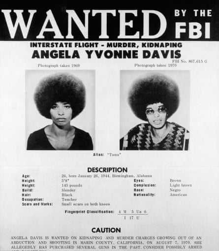 Davis's wanted poster from 1970.