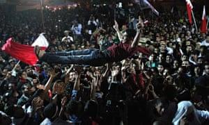 Anti-Government Protesters Celebrate Prisoners Release